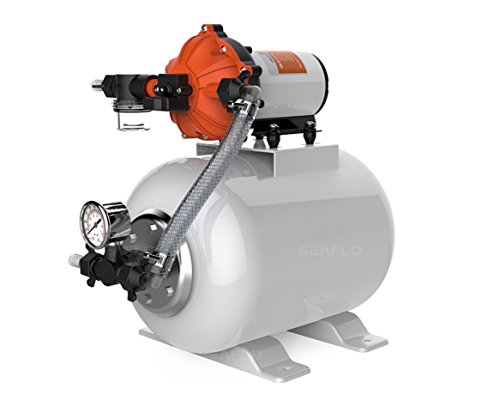 SEAFLO Water Pump and Accumulator Tank System - 12V, 5.5 GPM, 60 PSI, 2 Gallon Tank ()