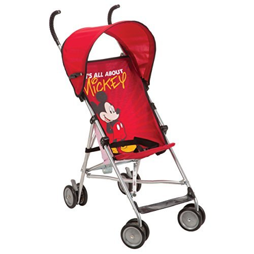 Stroller Pattern - Disney Umbrella Stroller With Canopy - All About Mickey Red Mickey Pattern