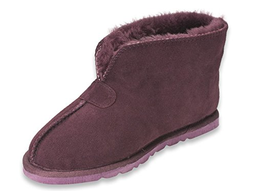 Nordvek Womens Genuine Sheepskin Slipper Boots With Hard Sole # 413-100 Purple sVzL5