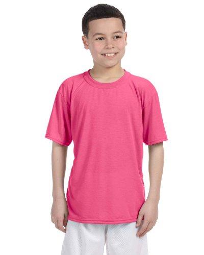 Gildan Performance Youth 4.5 oz. T-Shirt, XL, SAFETY PINK