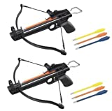 2 Pack 50 Lb Crossbow Gun Pistol Hand Held Archery