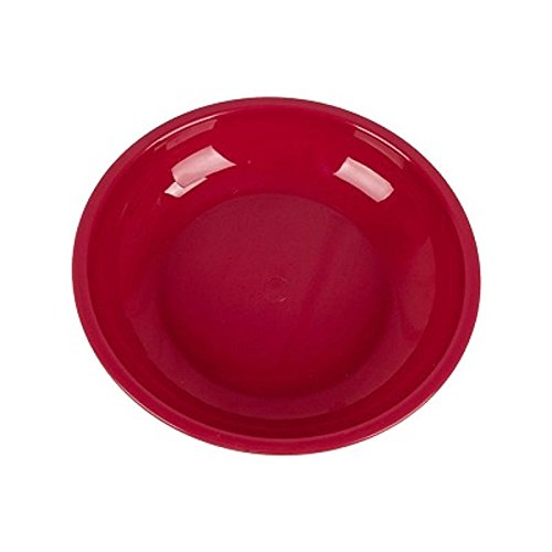 Red 2 x Highlander Poly Plastic  Camping 20cm Poly Soup Bowl