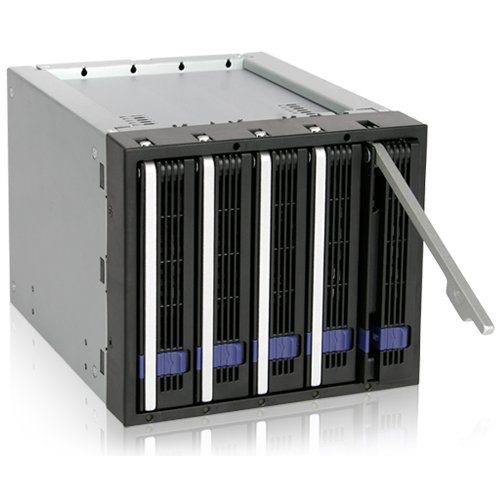 ICY DOCK FatCage MB155SP-B 5 Bay EZ-Tray 3.5'' SATA Hard Drive Hot-Swap Backplane Cage in 3x 5.25'' Bay by ICY DOCK