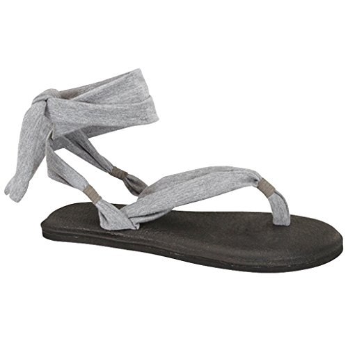 c1ba44f6c73 Women s Yoga Flip Flop Sling Gladiator Slingback Flat Thong Sandal (Red -A)size