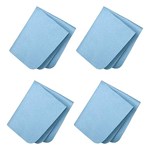 SURBUID Microfiber Cleaning Cloth for Electronics - Eyeglasses, Cell Phones, Tablets, LCD TV Screens and Laptop, Camera Lenses, Watches, Car GPS, Spectacles, Glasses, Monitor, Tablet 4-Pack (Blue)