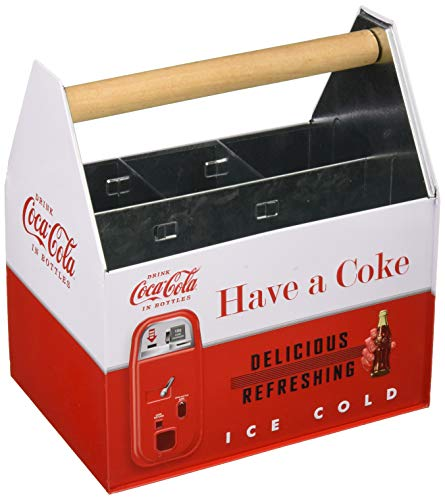 The Tin Box Company 772387-12 Coca Cola Large Galvanized Utensil Holder