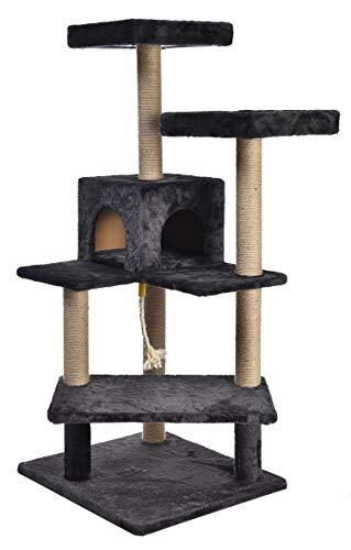 AmazonBasics Platform Cat Tree Furniture - Medium, Dark grey