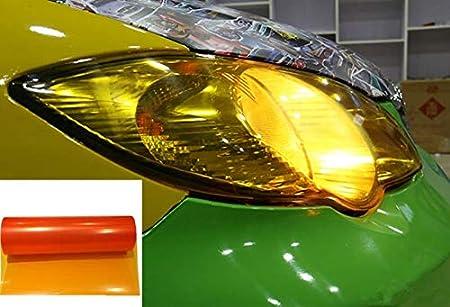 Voyago Scheinwerfer Folie Gelb 30 120cm Wasserdicht Auto Scheinwerfer Folie Tönungsfolie Nebelscheinwerfer Orange Auto