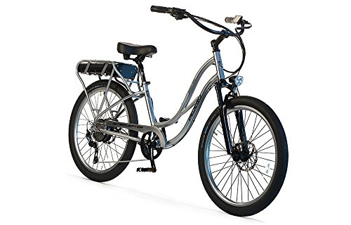 "Pedego Interceptor 26"" Platinum Step Thru with Black Balloon Package 48V 10Ah"