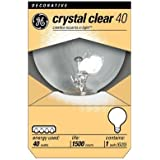 GE 12980-6 40 Watt Globe G25 Light Bulb, Crystal Clear, 6-Pack