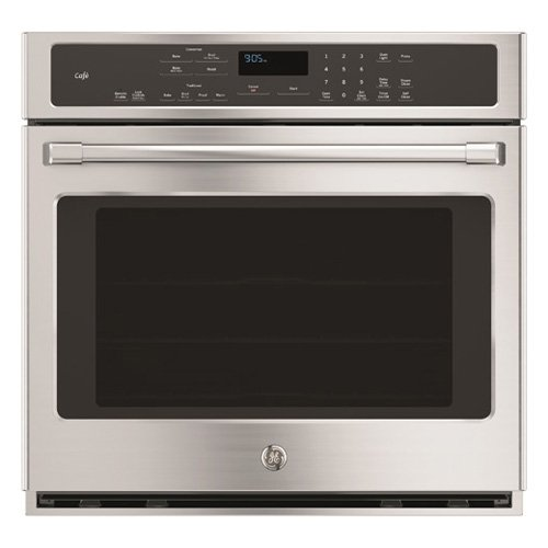 "GE Cafe CT9050SHSS 30"" Single Electric Wall Oven with 10-Pass Bake Element, in Stainless Steel."