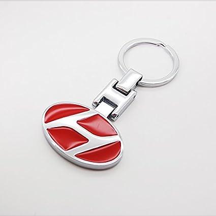 dreamsector Hyundai coche rojo Logo Emblema Llavero 3d ...