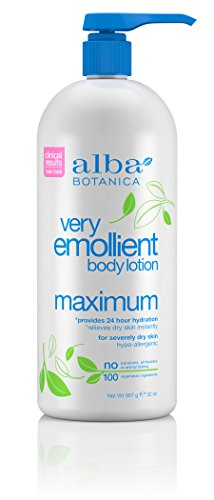 Botanica Very Lotion Moisturizing Emollient Alba Body Lotion (Alba Botanica Very Emollient Maximum Body Lotion, 32 oz.)