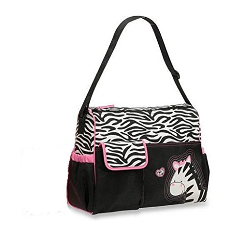 Moda boutique blanco y negro Zebra Striped Pink Zebra Bolsa De Pañales