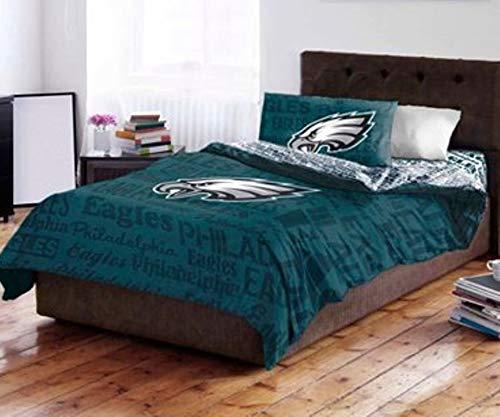 Northwest NFL Philadelphia Eagles Bed in a Bag Complete Bedding Set, Twin #27942646 -
