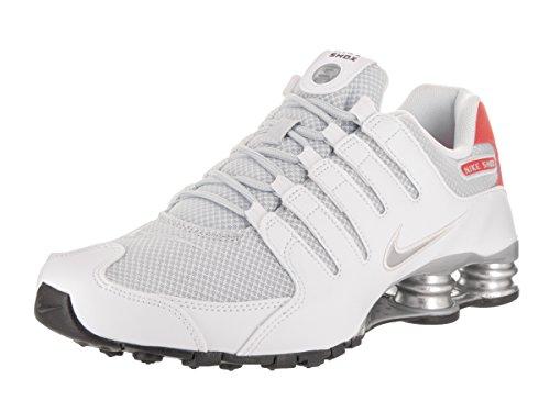 Nike Mens Shox NZ Special Edition White/Metallic Silver Mesh Trainers 8 US 1K6lxcT