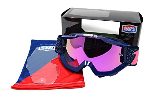 100% Accuri Adult Off-Road Goggles - Futura Pink/Pink Chrome Lens / One Size