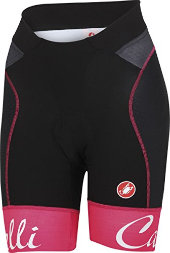 Castelli Free Aero Short - Women's Black/Raspberry Size L by Castelli (Image #1)