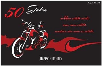 50 Jahre 50. Geburtstag Happy Birthday Sprüchekarte Maxikarte Sprüche Spruch  Geburtstagskarte Dankeskarte Danke Karte Einladungskarte
