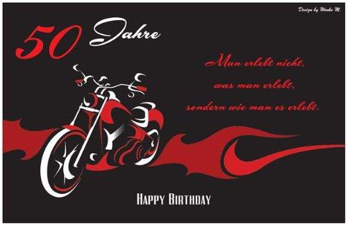 50 Jahre 50. Geburtstag Happy Birthday Sprüchekarte Maxikarte Sprüche Spruch  Geburtstagskarte Dankeskarte Danke Karte Einladungskarte Einladung  Grußkarte ...