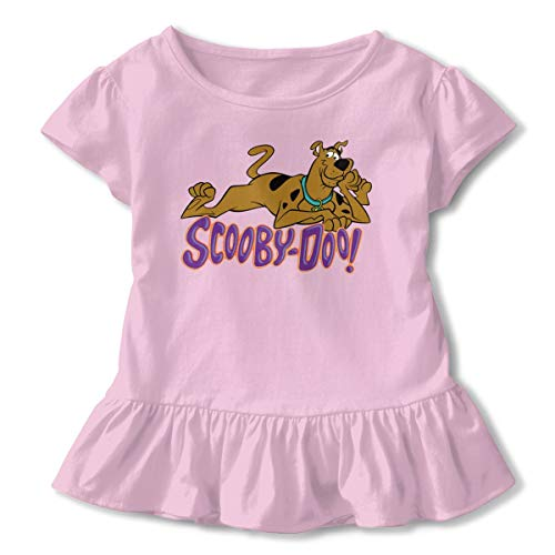 Sheridan Reynolds Scooby Doo Toddler Girls' Short-Sleeve Shirts Basic Tops Pink]()