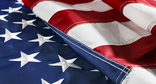 Quality Standard Flags Nylon Embroidered USA Flag, 4 by 6'