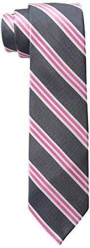 Wembley Big Boys Vienne Stripe Tie, Pink, One Size (Boys Necktie Tie)