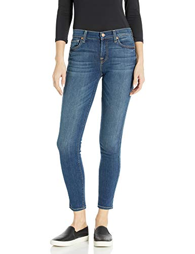 7 For All Mankind Women's The Skinny Jean, Rich Coastal Blue, 28 from 7 For All Mankind
