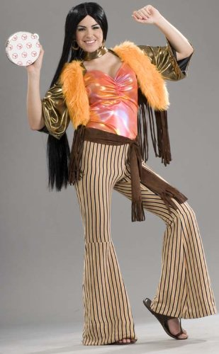 [Forum 60's Revolution Groovy Gal Costume, Multi, One Size] (Cher Believe Costume)