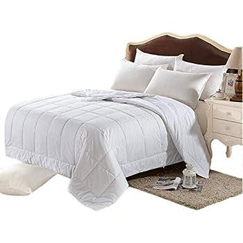100% Silk Comforter All Season Luxury Silk Duvet with Cotton Covered,Machine Washable,California King,110×96 inch,Silk Weight:1700g