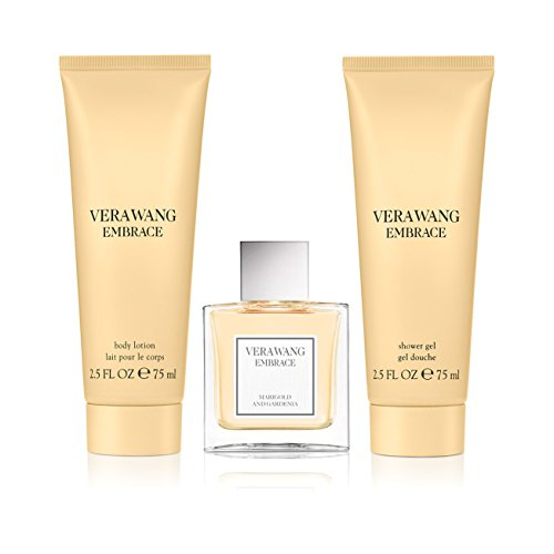 - Vera Wang Embrace Marigold & Gardenia 3pc set - 1.0oz Eau de Parfum + 2.5oz Shower Gel + 2.