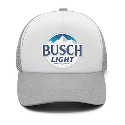 - Univeins Men's Designer Trucker Hat Busch-Light-Beer-Sign- Adjustable Visor Cap