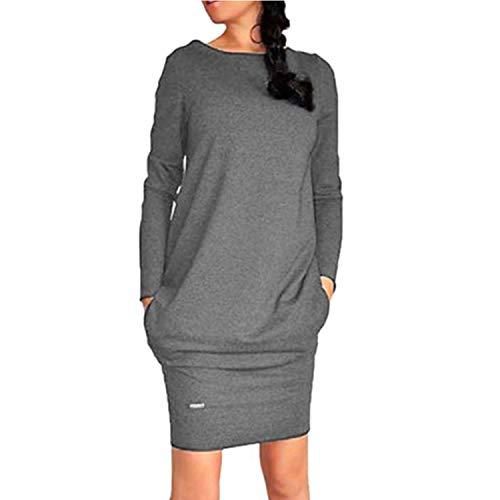 White Island Women Jumper Hoodies Dress Female Long Sleeve Tunic Bodycon Sweatshirt Tracksuit Pullover,Dark Grey,4XL
