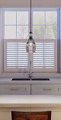 0de165e69f5 Hampton Bay 1-Light Black Mini Pendant 17221 and Toucan City Microfiber  Glass and Window. Loading Images... Back. Double-tap to zoom