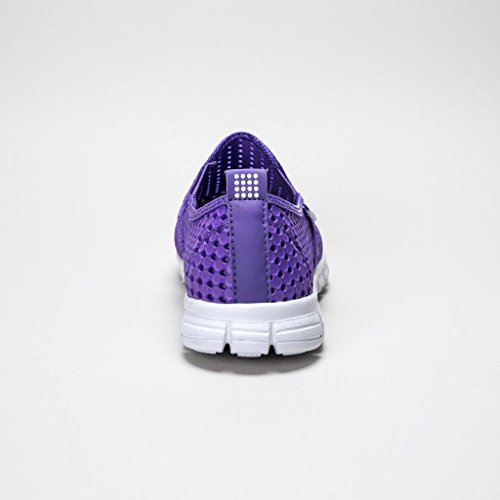 Holees Original Chaussures Sport - Basket Mode Femme Sans Lacets (Lilas)