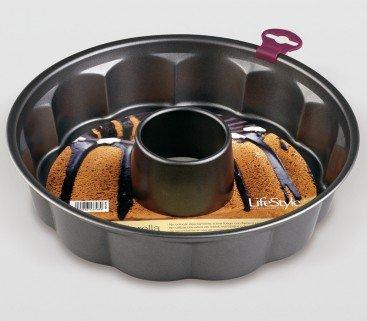 Life Style - Molde de Horno Fiorella con Tubo - Acero con Doble Recubrimiento Antiadherente - Ø 27 cm: Amazon.es: Hogar