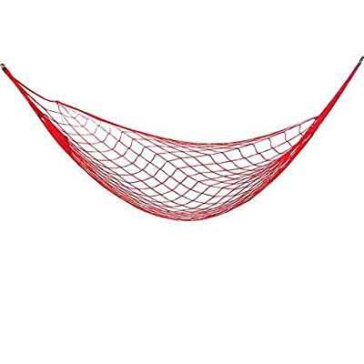 Eiis Outdoor Portable Hammock with Holes for Camping Swing Seat Tree Belt Children Toys Plastic Coated Playground Swing Set Accessories Replacement for Outdoor Indoor, Red - Portable hammock, Light and easy to take out. Nylon material, durable, safe to play. Color: red, green - patio-furniture, patio, hammocks - 41KIsklKWYL. SS400  -