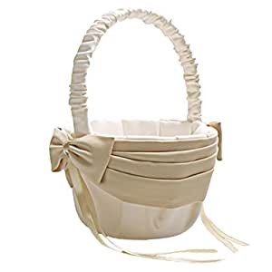 Amazon.com: Vivivalue Flower Girl Basket Wedding Collection ...