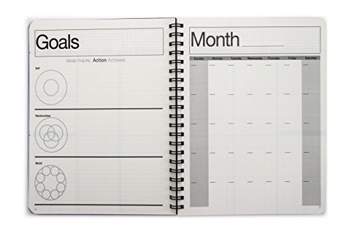 """Action Publishing UNDATED Minimalist Day Planner (8.5"""" X 11""""), Wire Bound, Crisp White Archival Quality Paper"""