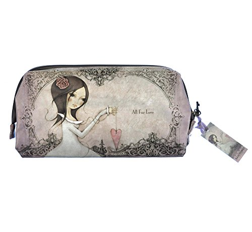 SANTORO MIRABELLE - Large Frame Clutch Case / Cosmetic Bag - All For Love, Santoros Mirabelle
