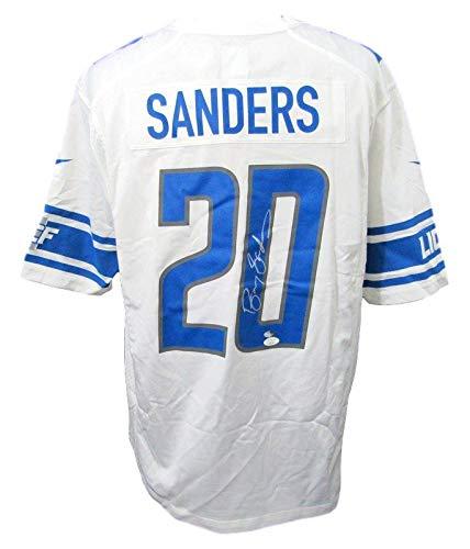 (Barry Sanders Detroit Lions Signed White Nike OnField Jersey Size XL JSA 143962)