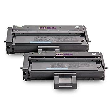 TwinPack de 2 Compatibles Cartuchos de Tóner Láser para RICOH SP200 / SP201 | Negro / 2600 lados | para Impresora Ricoh Aficio, Nashuatec & NRG serie ...