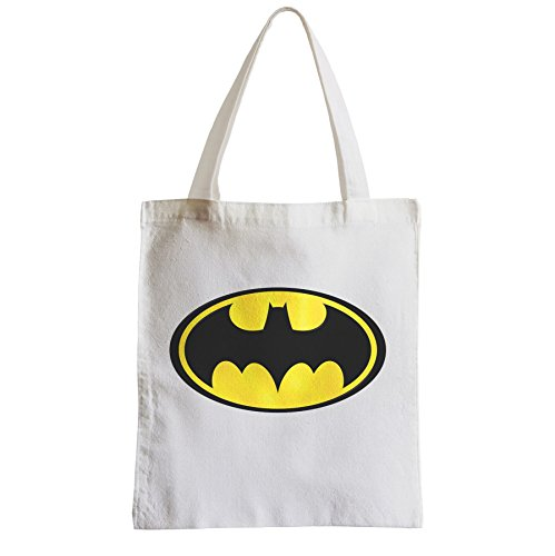 Bag Canvas Big Yellow Batman Beach Shopper Logo Tot Student O1qxgqPnt