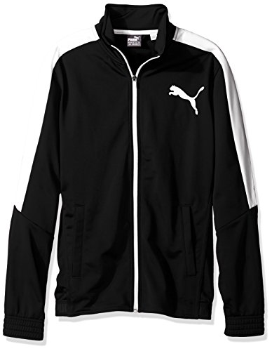 PUMA Men's Contrast Jacket, Black White, - White Jacket Black