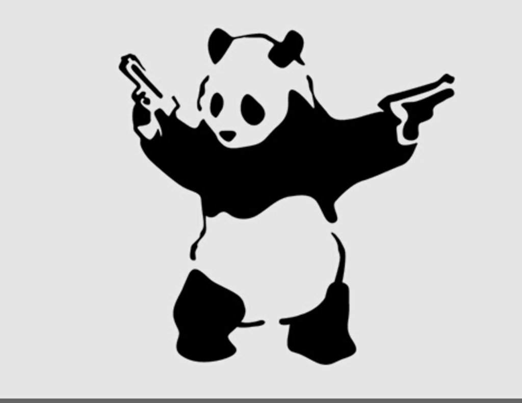 Banksy panda with guns sticker truck stickers logos and vinyl - Amazon Com Gangster Shooting Panda Banksy Decal Vinyl Sticker Cars Trucks Walls Laptop Black 5 5 In Kcd431 Automotive