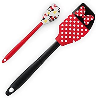 Disney Parks Minnie Mouse Polka Dot Bow Emoji Spatula Set of 2
