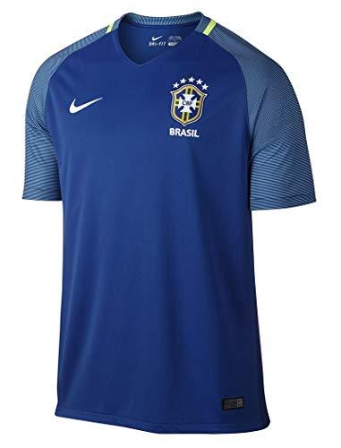 - Nike Brazil Away Stadium Soccer Jersey (Small) Blue