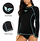 ATTRACO Rash Guard Women Long Sleeve Swim Top UV