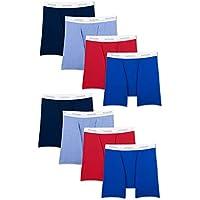 8-Pack Fruit of the Loom Men's Active Cotton Blend Lightweight Boxer