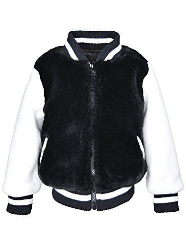 Price comparison product image Widgeon Kid's Faux Fur Varsity Jacket 3468 Outerwear, Ffb/Frothy Faux Fur Black, 2T